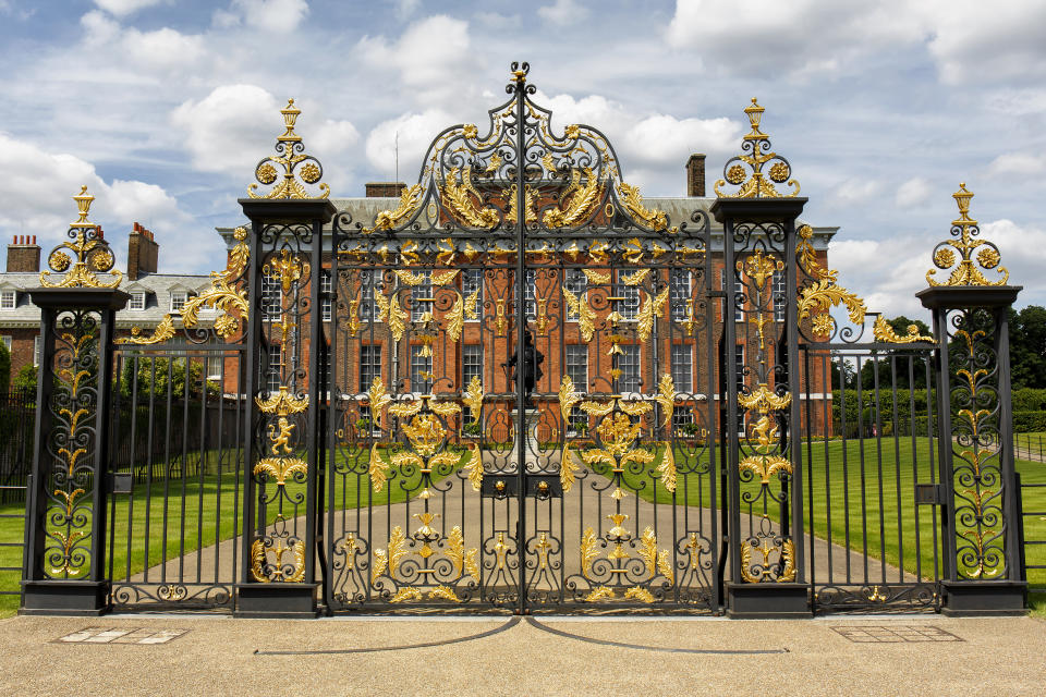 Golden Gates of Kensington Palace in Hyde Park