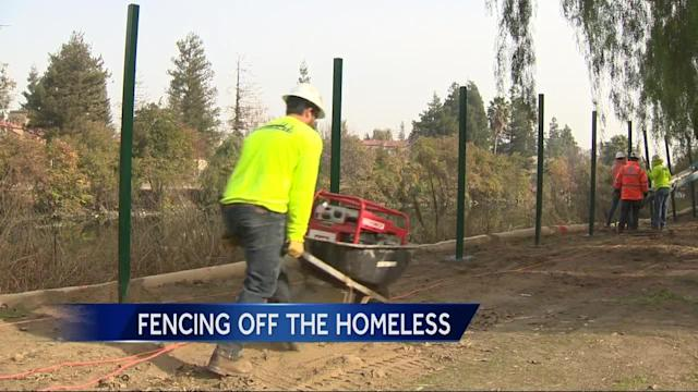 A new Caltrans project installs fencing near homeless encampments in Stockton. The fencing has forced people in the camps to leave and have nowhere to go. Caltrans says the project addresses safety issues and keeps people from trespassing.