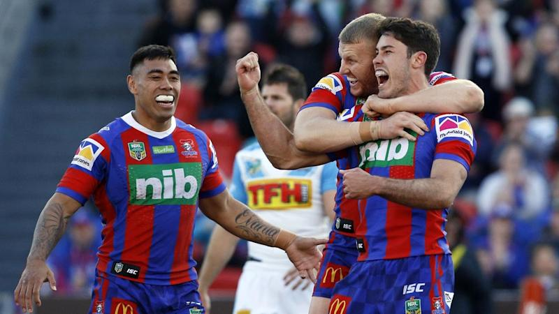 Newcastle are level with 10th-placed Canberra after coming from behind to beat Gold Coast