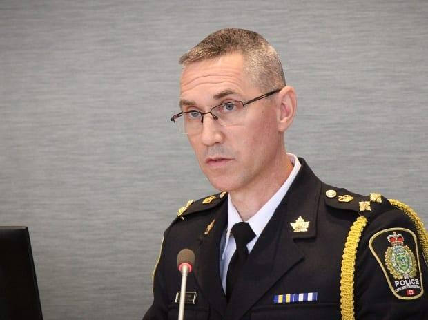 Former deputy chief Robert Walsh has been named chief of the Cape Breton Regional Police Service after a year in the acting role. (Tom Ayers/CBC - image credit)