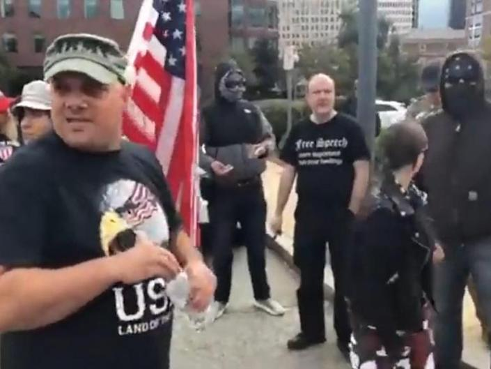 The organisers of a controversial Straight Pride rally proposed for the city of Boston, in the US, are heavily linked with far-right movements and nationalist protests, it has emerged.Plans for the parade were widely shared on social media this week, despite no date yet being set and no permit being granted by the city council.Organisers – a newly-formed group calling itself Super Happy Fun America – suggested the event would be a chance to celebrate being heterosexual.They have already had to remove photos of Brad Pitt from their website after the actor, who had not given permission for his image to be used, threatened legal action.Now questions have been raised over the past political activities of the trio of men behind the group, John Hugo, Mark Sahady and Chris Bartley.Mr Sahady and Mr Bartley are both heavily associated with Resist Marxism – a loose ultra-conservative group found to have links to white supremacist organisations – while Mr Hugo ran, unsuccessfully, for congress in 2018 with an endorsement from the same group.Mr Sahady is also reported to have organised a right-wing Free Speech Rally and Rally for the Republic, both in Boston, in the aftermath of the infamous Unite the Right march in Virginia, in August 2017, during which a counter-protester was killed.Attendees at both Mr Sahady's events were vastly outnumbered by counter-protestors.Another rally the software engineer led in Providence, in Rhode Island, attracted just a few dozen people – some wearing masks in an apparent bid to hide their identity.He is also reported to have marched with members of far-right groups Patriot Prayer and Proud Boys in Portland in June 2018 – an event which descended into such violence police in the city officially labelled it a riot.And in January this year, he and other Resist Marxism associates led a counter-protest against the Boston Women's March, which descended into a fracas, reports David Neiwert, author of Alt America and a long-time observer of the US rig