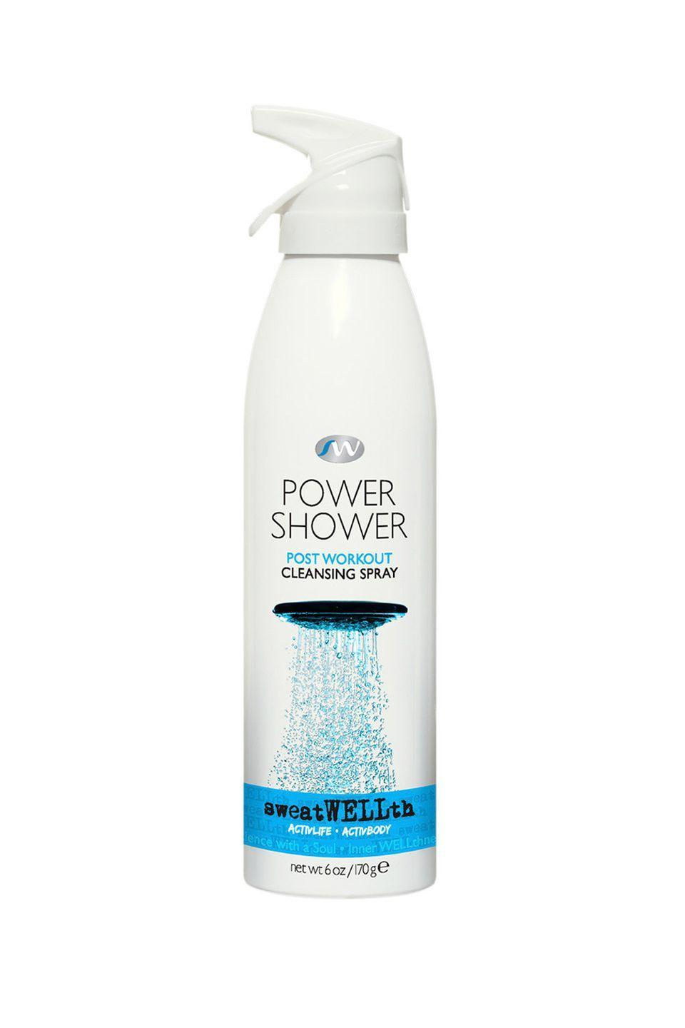 """<p>Use it on those days when you don't have time for a post-sweat sesh shower. </p><p>sweatWELLth Power Shower, $25, <a href=""""https://www.sweatwellth.com/"""" rel=""""nofollow noopener"""" target=""""_blank"""" data-ylk=""""slk:sweatwellth.com"""" class=""""link rapid-noclick-resp"""">sweatwellth.com</a></p>"""