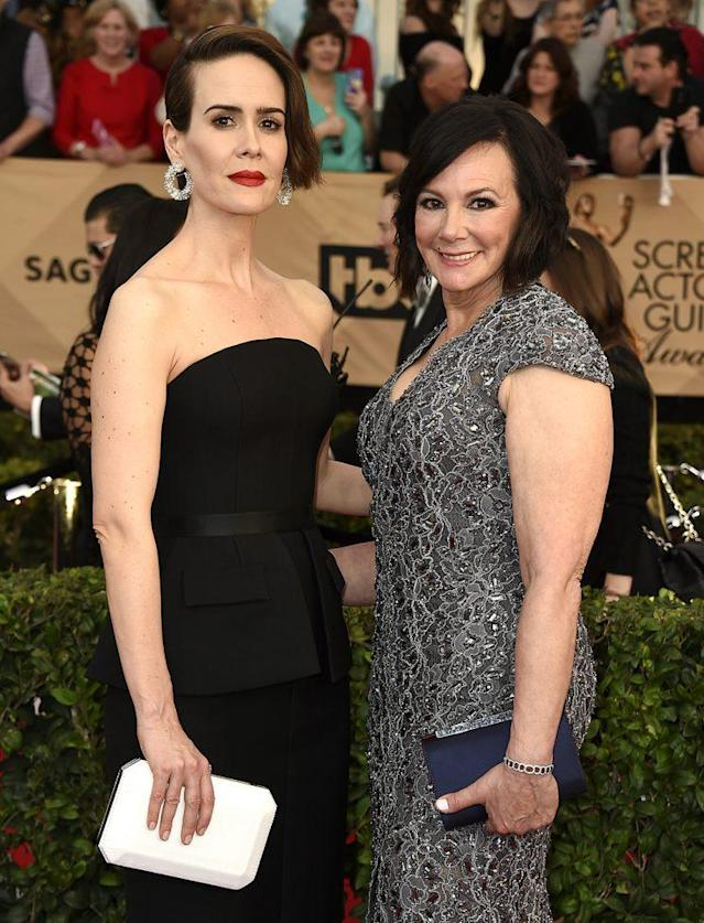 Sarah Paulson and Marcia Clark became fast friends while drinking tequila. (Photo: Jordan Strauss/Invision/AP)