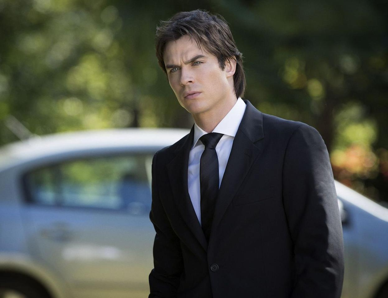 """<p>There's actually been some debate over whether Damon Salvatore (played by <a href=""""https://www.menshealth.com/entertainment/a30520968/ian-somerhalder-vampire-diaries-v-wars-lost-interview/"""" target=""""_blank"""">Ian Somerhalder</a>) is an anti-hero or villain on <em>The Vampire Diaries.</em> But the Damon we meet in season one—a ruthless, manipulative vampire with a thousand-years old unrequited love and vendetta against his brother—is not the Damon we know by the end of the series—a human who has tried to make amends and sacrifice himself to save that same brother and the town of Mystic Falls from burning in literal hell. </p><p>Sure, he still has that charming bad boy thing going on, but over the course of eight seasons, he learns to be better and to show the good parts of himself that he kept hidden to avoid having to live up to other people's expectations. But it's not all at once, and in the end he doesn't just become like his self-righteous brother. He's still himself, but with a moral compass. </p><p>This redemption, of course, is because of his love for Elena. And the back-and-forth between these two characters in particular, as Damon ends up striving to be someone deserving of Elena, is what both endears and excites you about his character. You can't help but root for him.<em> —Stephanie Castillo </em></p><p><a class=""""body-btn-link"""" href=""""https://www.amazon.com/Vampire-Diaries-Complete-First-Season/dp/B002NHGG92/ref=sr_1_1_sspa?keywords=the+vampire+diaries&qid=1585228437&s=instant-video&sr=1-1-spons&psc=1&spLa=ZW5jcnlwdGVkUXVhbGlmaWVyPUExNThOSzcxOVBDRDRZJmVuY3J5cHRlZElkPUEwNTIwMjI1M0hTWUdUNzNMRUlTWSZlbmNyeXB0ZWRBZElkPUEwODg3MDUyMzdRS1VJWFo5TDlYRyZ3aWRnZXROYW1lPXNwX2F0ZiZhY3Rpb249Y2xpY2tSZWRpcmVjdCZkb05vdExvZ0NsaWNrPXRydWU%3D&tag=syn-yahoo-20&ascsubtag=%5Bartid%7C2139.g.31928224%5Bsrc%7Cyahoo-us"""" target=""""_blank"""">Stream <em>The Vampire Diaries </em>Here</a><em></em></p>"""