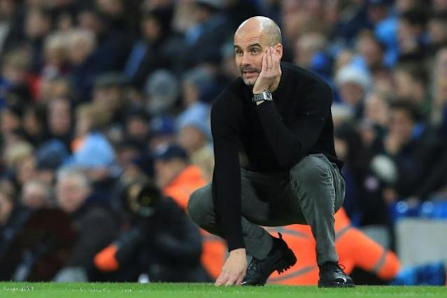 Pep Guardiola's future is in doubt after Manchester City's UEFA ban (AFP Photo/Lindsey Parnaby)
