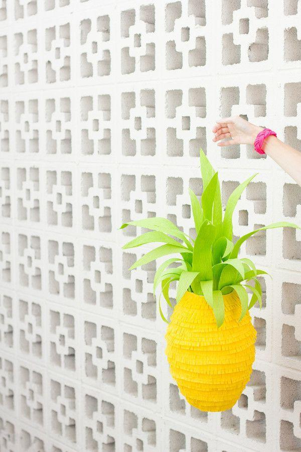 """<p>A treat-filled lantern can do double-duty as party decor and favors, but it'll be hard to smash this too-cute pineapple piñata.</p><p><em><a href=""""http://www.studiodiy.com/2013/09/03/diy-pineapple-pinata/"""" rel=""""nofollow noopener"""" target=""""_blank"""" data-ylk=""""slk:Get the tutorial at Studio DIY »"""" class=""""link rapid-noclick-resp"""">Get the tutorial at Studio DIY »</a></em> </p>"""