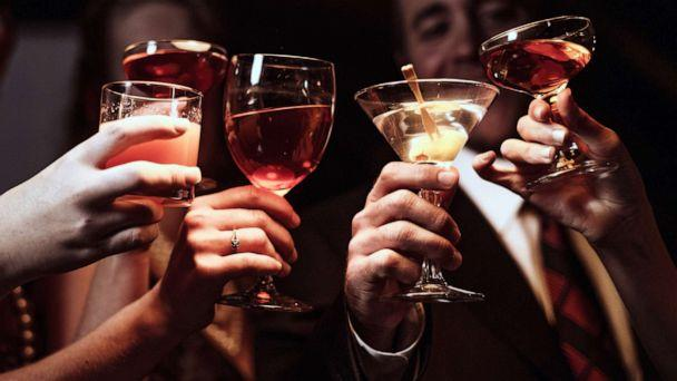 PHOTO: People raise their glasses in an undated stock photo. (STOCK PHOTO/Getty Images)