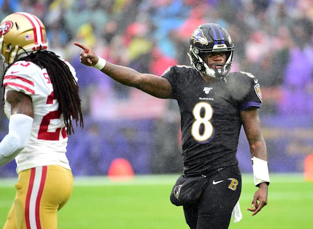 Lamar Jackson was still able to deliver for his fantasy managers despite a seriously tough matchup. Mandatory Credit: Evan Habeeb-USA TODAY Sports