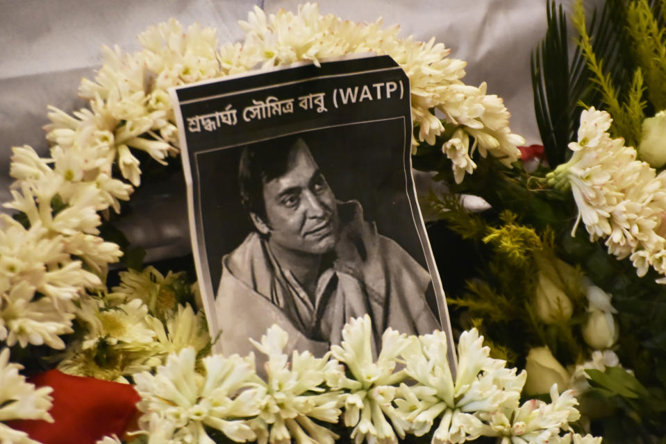 The entire country mourned the loss of legendary Bengali actor Soumitra Chatterjee on November 15, this year. The actor, director, playwright, writer and poet, was admitted at a hospital in Kolkata after testing positive for COVID-19. He was 85 years of age. <br>Chatterjee is known for his collaboration with celebrated director Satyajit Ray, his debut role in the Apu Trilogy and his portray of Feluda, a fictional private Bengali investigator. He was also the first Indian actor to be conferred France's highest award for artists – the <em>Ordre des Arts et des Lettres</em> (1999). Chatterjee was awarded the Dadasaheb Phalke Award in 2012. <br><em><strong>Image credit: </strong></em>(Photo by Indranil Aditya/NurPhoto via Getty Images)