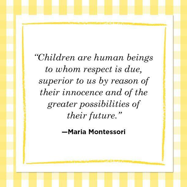"""<p>""""Children are human beings to whom respect is due, superior to us by reason of their innocence and of the greater possibilities of their future."""" </p>"""