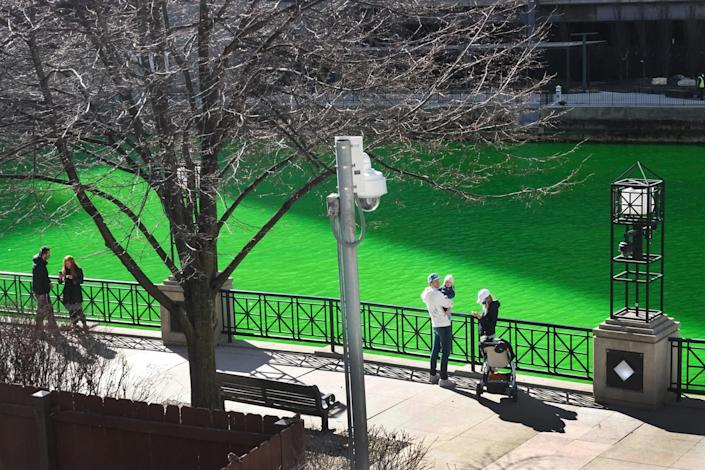 Image: In A Surprise Move, Chicago River Dyed Green Ahead Of St Patrick's Day (Scott Olson / Getty Images)