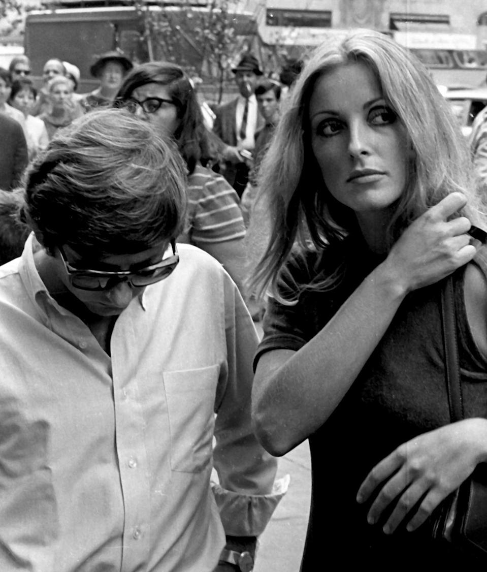 <p>Tate visited her husband on the set of his film <em>Rosemary's Baby</em> in New York. Polanski reportedly wanted Tate to play the lead, but Mia Farrow was cast instead.</p>