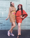 """<p>Sure, you may prefer a different dipping sauce with your chicken nuggets (hello, honey mustard) but there's no denying that these pals look adorable in their matching costume.</p><p><a class=""""link rapid-noclick-resp"""" href=""""https://www.amazon.com/Tanming-Corduroy-Pinafore-Overall-Skirt%EF%BC%88Brown-L%EF%BC%89/dp/B088PPJ4BQ/ref=sr_1_18_sspa?dchild=1&keywords=brown+paper+bag+overall+dress&qid=1598995867&sr=8-18-spons&psc=1&spLa=ZW5jcnlwdGVkUXVhbGlmaWVyPUEyTTJENlFTNFBCRVBLJmVuY3J5cHRlZElkPUEwMzcxMTQ2MlNNWjZUMFAyUzRBUSZlbmNyeXB0ZWRBZElkPUEwODc0NTM0MTEyNTdIOUgzN1hENSZ3aWRnZXROYW1lPXNwX210ZiZhY3Rpb249Y2xpY2tSZWRpcmVjdCZkb05vdExvZ0NsaWNrPXRydWU%3D&tag=syn-yahoo-20&ascsubtag=%5Bartid%7C10072.g.27868790%5Bsrc%7Cyahoo-us"""" rel=""""nofollow noopener"""" target=""""_blank"""" data-ylk=""""slk:Shop Similar Overall Dress"""">Shop Similar Overall Dress</a></p>"""