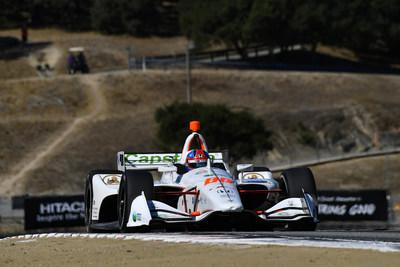 IndyCar Series rookie sensation Colton Herta captured his third pole of the season Saturday in qualifying at WeatherTech Raceway Laguna Seca for Sunday's season-finale race.
