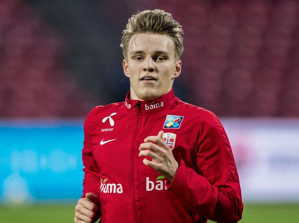 <p>Norway captain Martin Odegaard</p> (Getty Images)