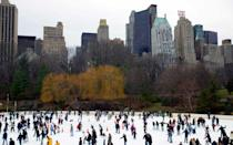 """<p>Go skating like John Cusack and Kate Beckinsale in """"Serendipity"""" at the <a rel=""""nofollow noopener"""" href=""""http://www.wollmanskatingrink.com/"""" target=""""_blank"""" data-ylk=""""slk:Wollman Rink"""" class=""""link rapid-noclick-resp"""">Wollman Rink</a>. (Or just buy a ticket to ride the carousel.) There are few things more iconically """"winter in New York City"""" than skating in <a rel=""""nofollow noopener"""" href=""""http://www.travelandleisure.com/articles/secrets-of-central-park"""" target=""""_blank"""" data-ylk=""""slk:Central Park"""" class=""""link rapid-noclick-resp"""">Central Park</a>. And when you need to warm up, head to Serendipity 3 (on 60th Street between 3rd and 2nd Avenues) for some more film-inspired cityness.</p>"""
