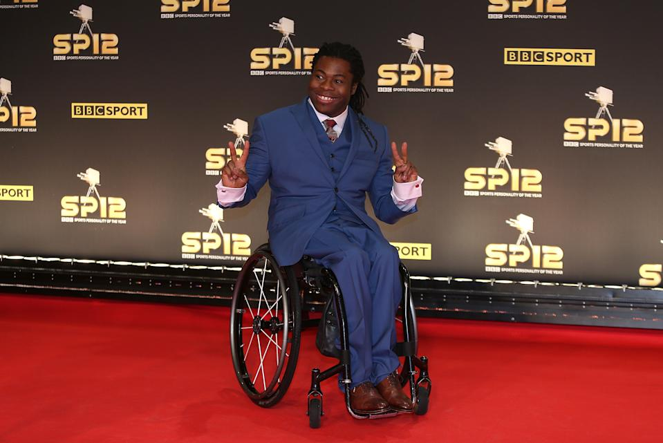 Ade Adepitan arriving for the Sports Personality of the Year Awards 2012, at the ExCel Arena, London.