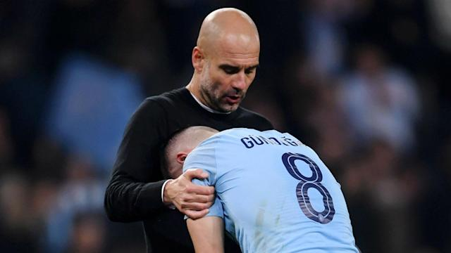 Liverpool making the semi-finals of the Champions League does not give Manchester City a title race advantage, says Pep Guardiola.