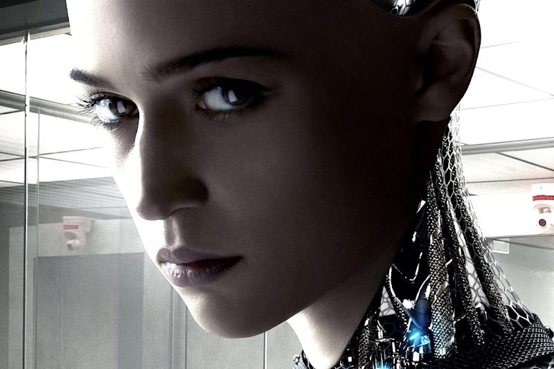 Sexbot: Alicia Vikander as the android Ava in the film Ex Machina, 2015