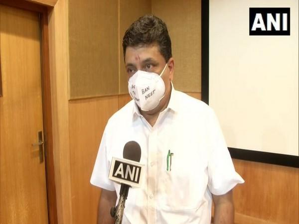 DMK MLA Palanivel Thiaga Rajan speaks to ANI in Chennai. [Photo/ANI]