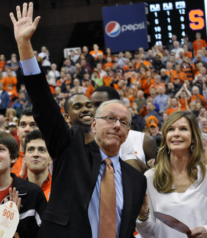 Jim Boeheim is not waving goodbye. (AP)