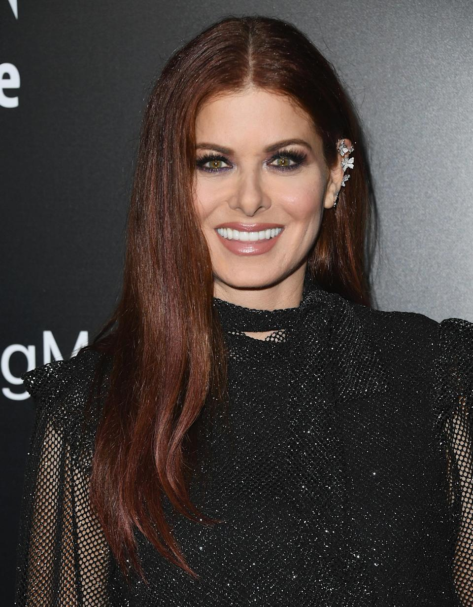 Debra Messing shares her beauty secrets and what gives her confidence. (Photo: Getty Images) .