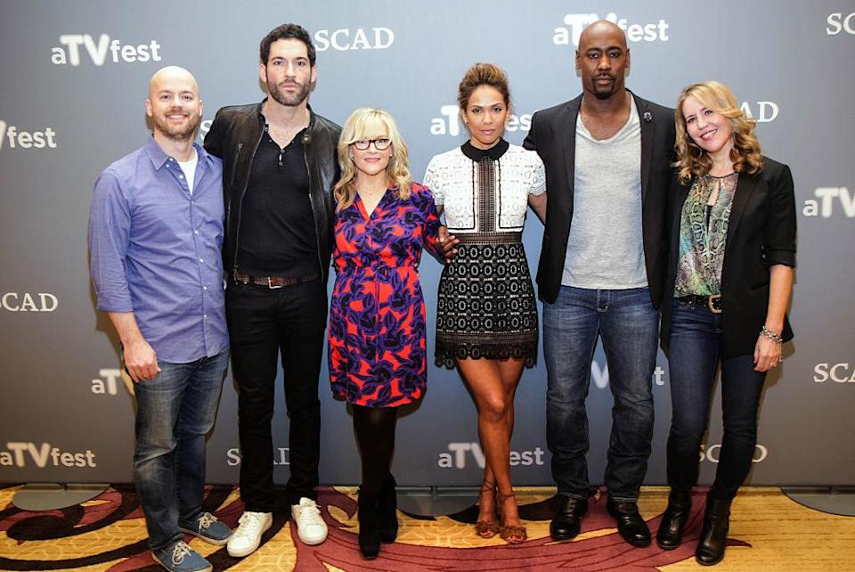 The cast of Lucifer at an event