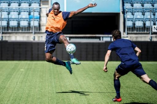 Retired Jamaican sprinter Usain Bolt has been training with the Norwegian football club Stromsgodset at Marienlyst Stadium in Drammen, Norway