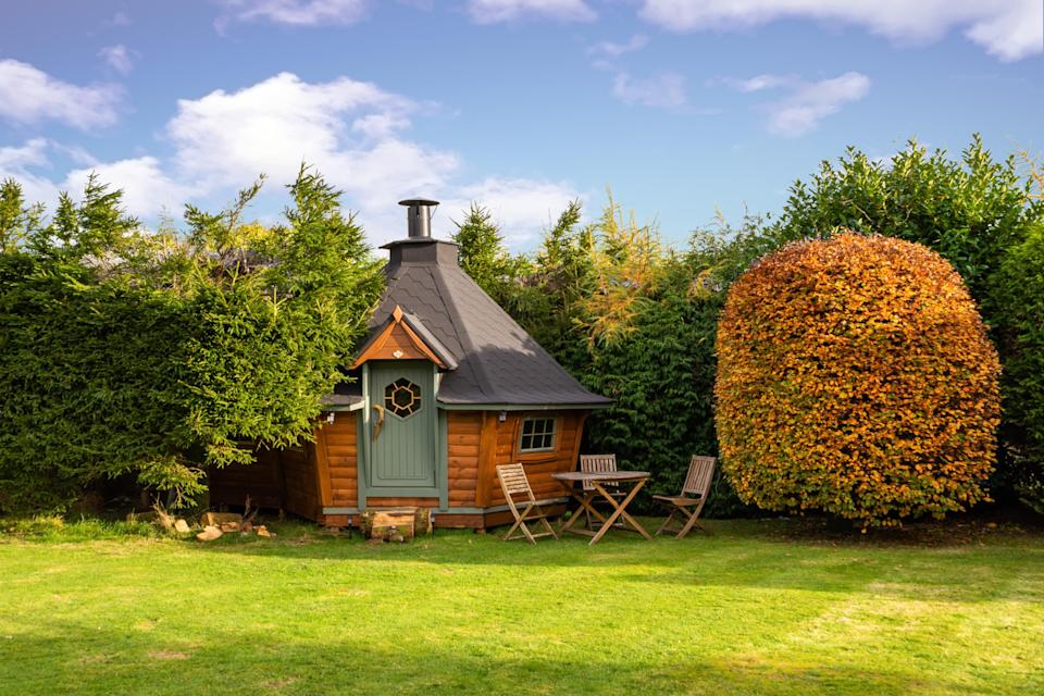 """<strong><a href=""""http://airbnb.pvxt.net/Eaa6Oe"""" rel=""""nofollow noopener"""" target=""""_blank"""" data-ylk=""""slk:Scandinavian Cabin, Cumbria"""" class=""""link rapid-noclick-resp"""">Scandinavian Cabin, Cumbria</a></strong> <br><br>This traditional Scandinavian cabin is located close to beautiful Lake Windermere. It has a large barbecue pit in the centre to cook on, and toilet facilities right next door.<br><br><em>From £84 per night</em>"""