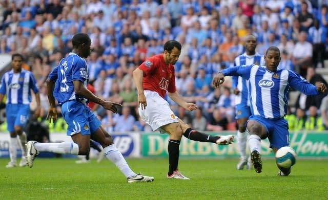 Giggs scored the decisive second goal with 10 minutes to go (Dave Thompson/PA)