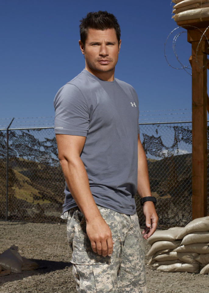 "Multi-platinum recording artist, actor, producer and television personality Nick Lachey (NBC's ""The Sing-Off"") competes on NBC's ""Stars Earn Stripes."""