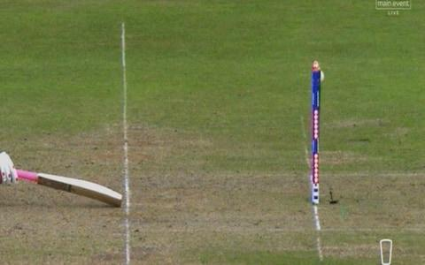 Tamim is caught short - Credit: Sky Sports