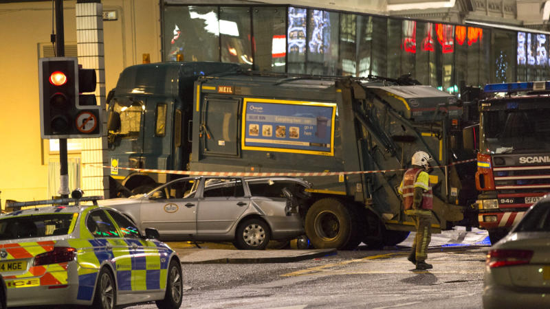 A garbage truck has ploughed into a group of pedestrians in Glasgow, killing six people.