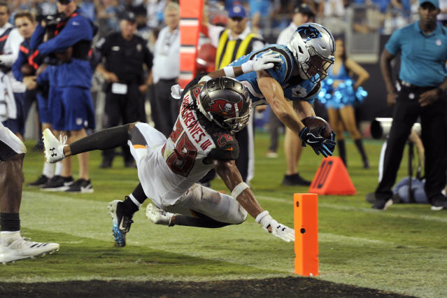 A portion of Spectrum subscribers missed the Tampa Bay Buccaneers and Carolina Panthers game Thursday night because of alternate programming. (AP Photo/Mike McCarn)