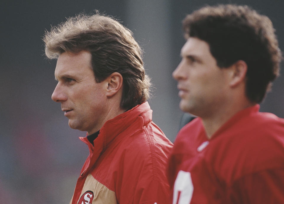 The 49ers were able to look past Joe Montana. (Mike Powell/Allsport/Getty Images)