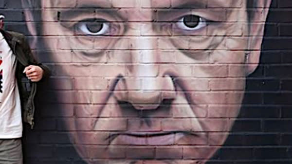 A mural of Kevin Spacey will soon vanish from the side of a building in the northwest England city of Manchester.