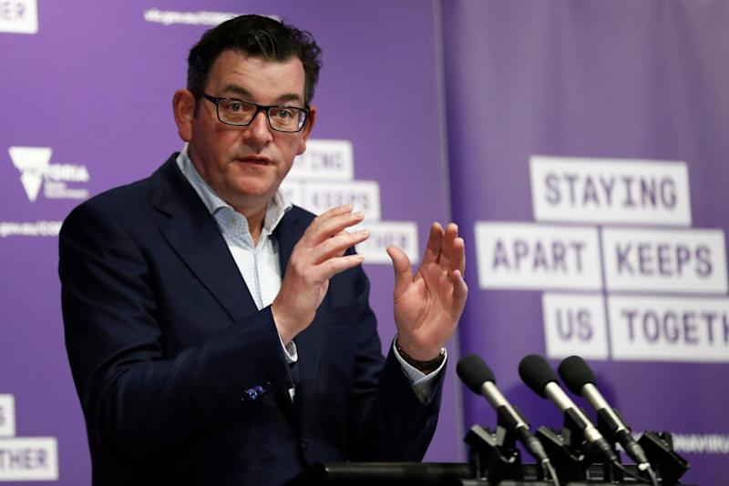Victoria Premier Daniel Andrews speaks to the media at the daily briefing on August 31, 2020 in Melbourne, Australia.