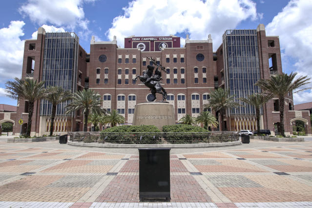 FSU president John Thrasher has asked athletic director David Coburn to review changing the name of Doak Campbell Stadium. (Don Juan Moore/Getty Images)