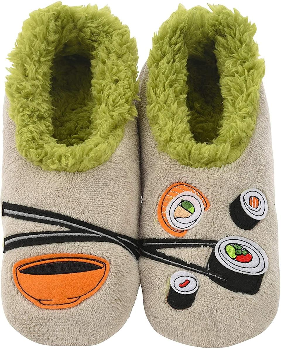 """<p>These <span>Sushi Slippers</span> ($16) put a new spin on the words """"comfort food.""""</p>"""