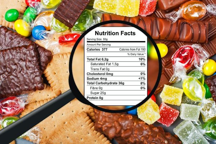 """<span class=""""caption"""">Nutrition labels haven't always been shown to work.</span> <span class=""""attribution""""><a class=""""link rapid-noclick-resp"""" href=""""https://www.shutterstock.com/image-photo/food-concept-candy-chocolate-bars-jelly-320876591"""" rel=""""nofollow noopener"""" target=""""_blank"""" data-ylk=""""slk:Evan Lorne/ Shutterstock"""">Evan Lorne/ Shutterstock</a></span>"""