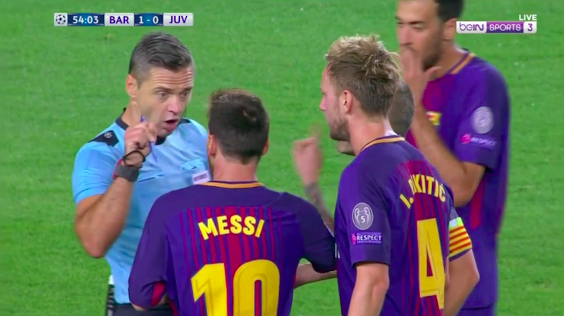 But Messi was still complaining. Pic: beIN