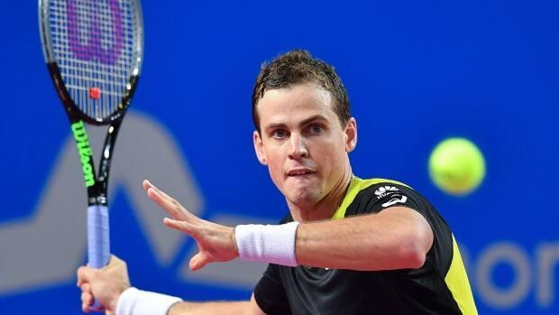Vernon's Vasek Pospisil is one of many B.C. athletes being recognized at the 54th Sport B.C. Athlete of the Year Awards Thursday evening. (Pascal Guyot/AFP via Getty Images/File - image credit)