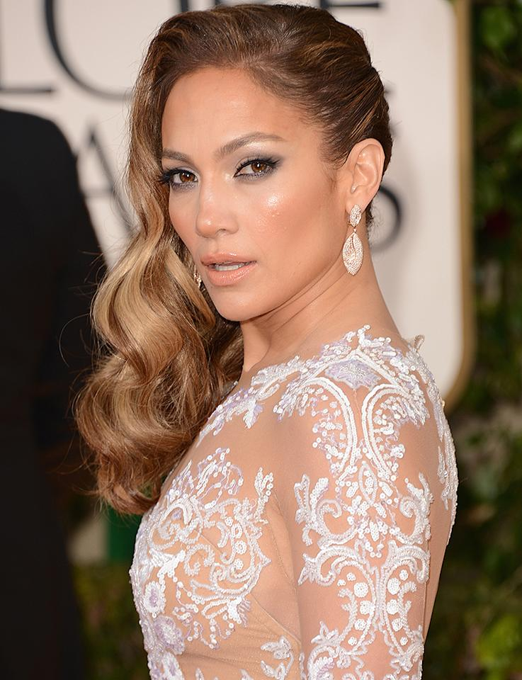 Jennifer Lopez  arrives at the 70th Annual Golden Globe Awards at the Beverly Hilton in Beverly Hills, CA on January 13, 2013.