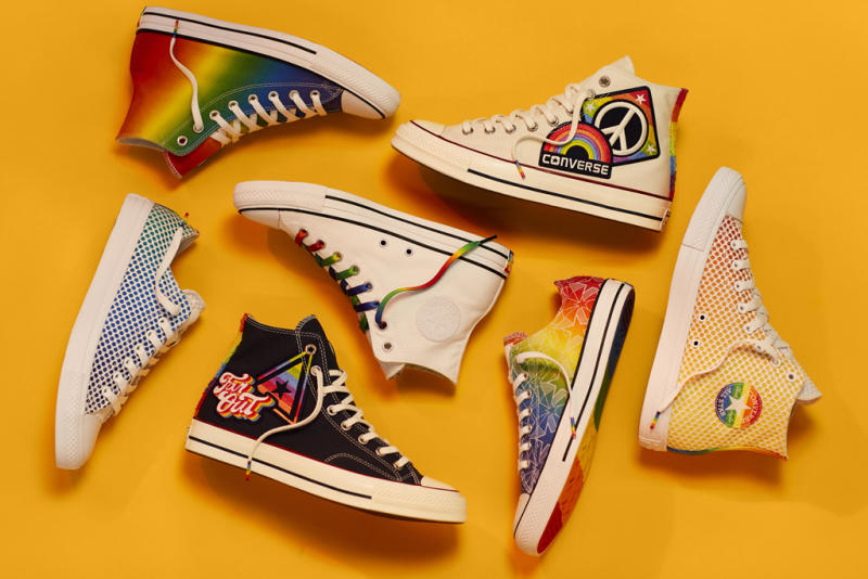 4b1f58a1e4fbe2 Rainbows and Peace Signs Cover the Converse Chuck Taylor for LGBT Pride  Month