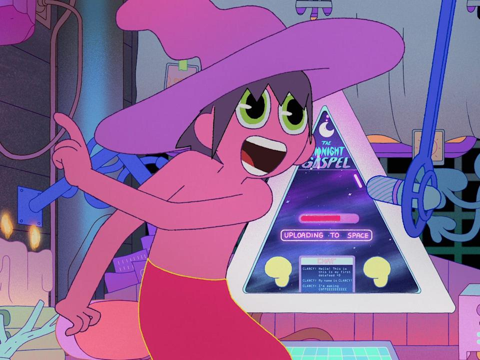 """""""The Midnight Gospel"""" was created by Pendleton Ward (""""Adventure Time"""") and Duncan Trussell (""""Duncan Trussell Family Hour podcast""""), and animated by Titmouse."""