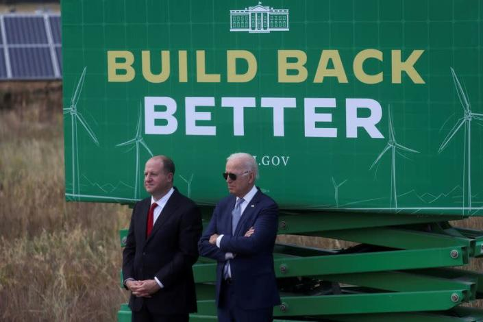 FILE PHOTO: U.S. President Joe Biden visits the Flatirons Campus Laboratories and Offices of the National Renewable Energy Laboratory (NREL), in Arvada