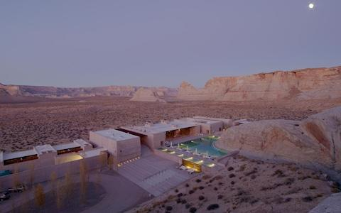 Amangiri is an award-winning retreat built around 164 million-year-old rock