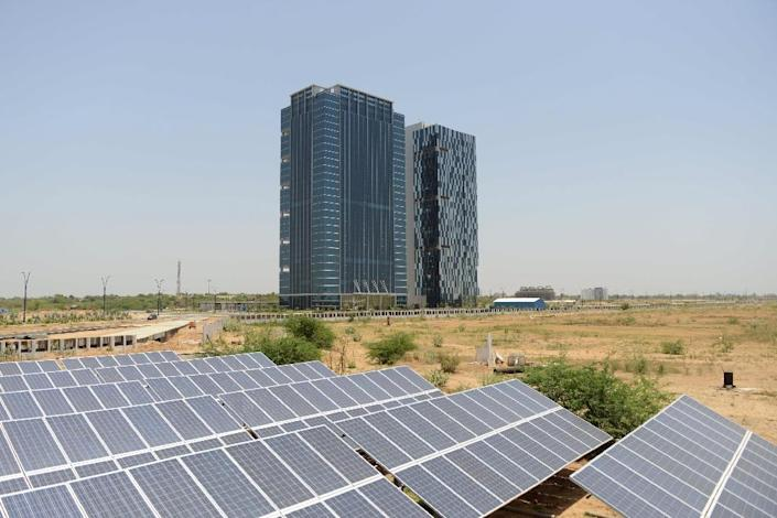 Kuwait has signed a $385 mn deal with Spain's TSK Group for a 50 megawatt solar energy project (AFP Photo/Sam Panthaky)