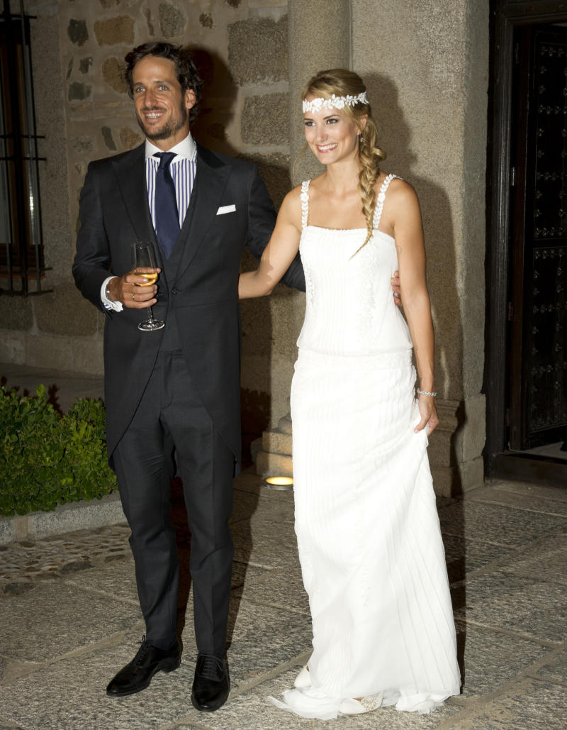 TOLEDO, SPAIN - JULY 17: Spanish tennis player Feliciano Lopez and model Alba Carrillo get married on July 17, 2015 in Toledo, Spain. (Photo by Europa Press/Europa Press via Getty Images)