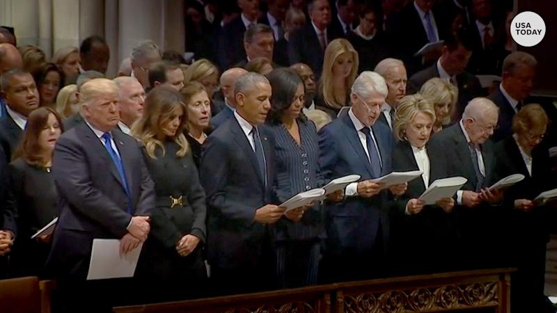 Trump not reading the prayer